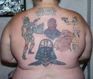 Star Wars фен с татуировка